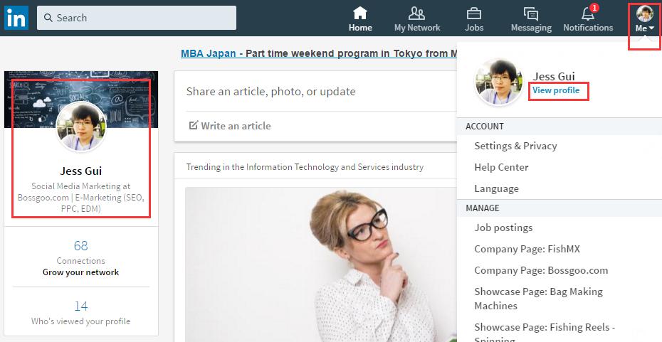 Linkedin Desktop Redesign - Profile Edit